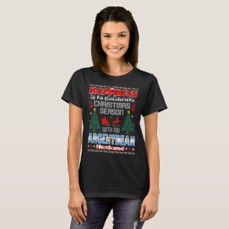 Happiness Celebrate Christmas Argentinian Husband T-Shirt