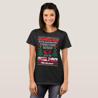 Happiness Celebrate Christmas Greenlander Husband T-Shirt