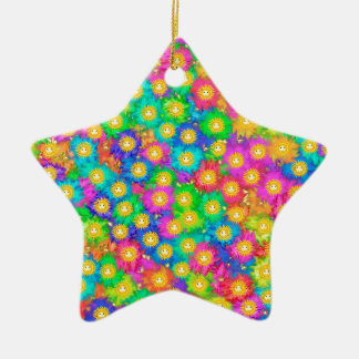 Happiness Ceramic Star Ornament