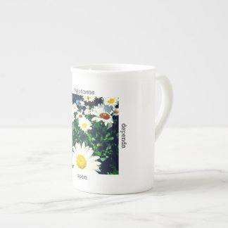"""Happiness Depends Upon Ourselves"" Bone China Mug"