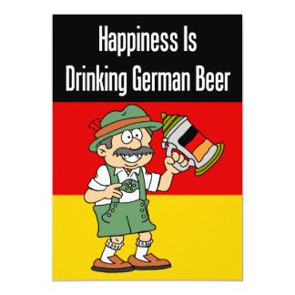 Happiness Drinking German Beer Invite