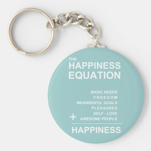 Happiness Equation Keychain