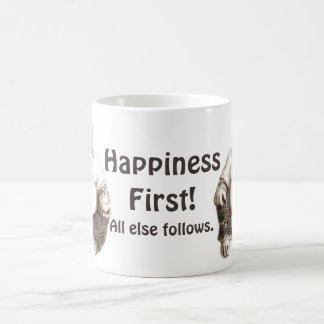 Happiness First Good Luck Buddha Custom Basic White Mug