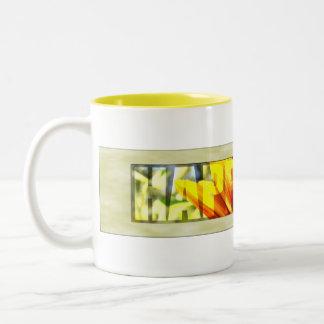 Happiness Framed Two-Tone Coffee Mug