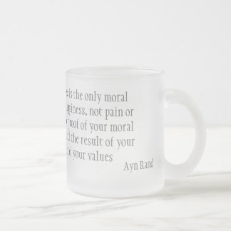 Happiness Frosted Glass Coffee Mug