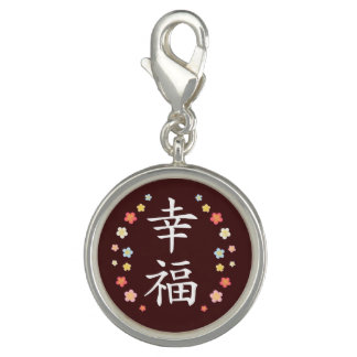 Happiness in Kanji and plumerias Charm