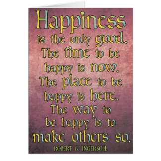 Happiness... Inspirational Quote Card