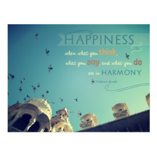 """Happiness"" - inspirational quote postcard"