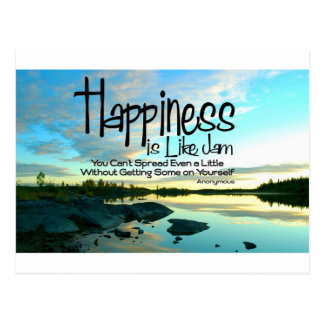 Happiness Inspirational Quote Postcard
