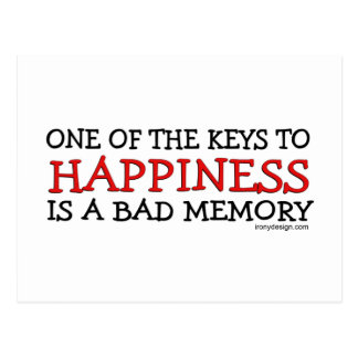 Happiness is a Bad Memory Postcard
