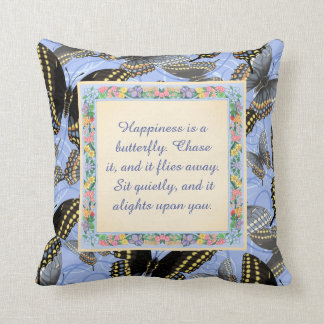Happiness is a Butterfly: Black Swallowtail Throw Pillow