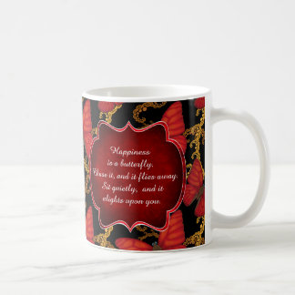 Happiness is a Butterfly: Blood Red Glider Coffee Mug