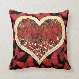 Happiness is a Butterfly: Blood Red Glider Throw Pillow