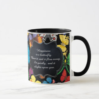 Happiness is a Butterfly: Dark Mug