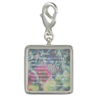 Happiness is a Butterfly - Inspiring Quote Charm