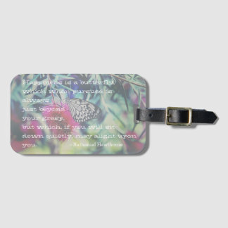 Happiness is a Butterfly - Inspiring Quote Luggage Tag