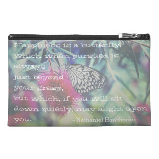 Happiness is a Butterfly - Inspiring Quote Travel Accessory Bag