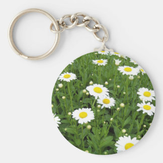 Happiness is a Field of Daisies Keychain