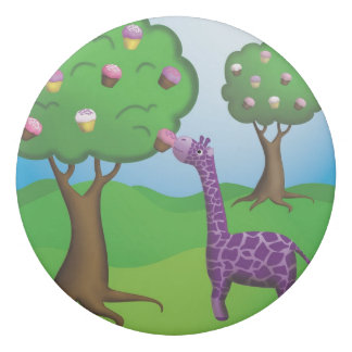 Happiness is a Giraffe with a Cupcake Eraser