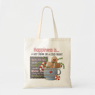Happiness is a Hot Drink on a Cold Night Tote Bag