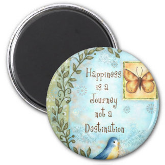 Happiness is a Journey 2 Inch Round Magnet