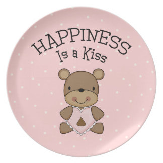 Happiness Is a Kiss Dinner Plate