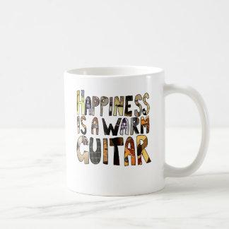 Happiness is a Warm Guitar Coffee Mug