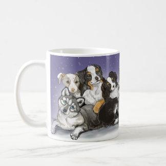 Happiness is a Warm Puppy Christmas Coffee Mug