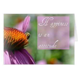 Happiness is an Attitude Card