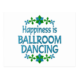 Happiness is Ballroom Dancing Postcard