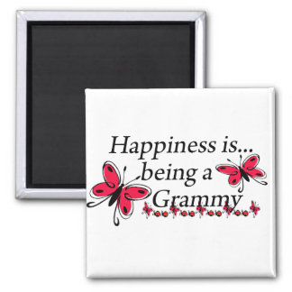 Happiness Is Being A Grammy BUTTERFLY Square Magnet