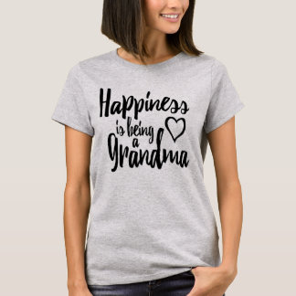 Happiness Is Being A Grandma Heart T-Shirt