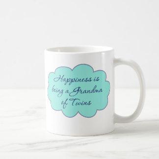 Happiness is Being a Grandma of Twins Basic White Mug