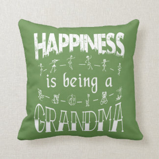 Happiness is Being a GRANDMA Throw Pillow