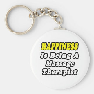 Happiness Is Being a Massage Therapist Basic Round Button Keychain