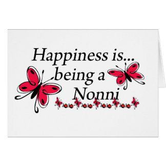 Happiness Is Being A Nonni BUTTERFLY Card