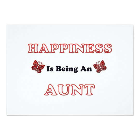 Happiness Is Being An Aunt Card