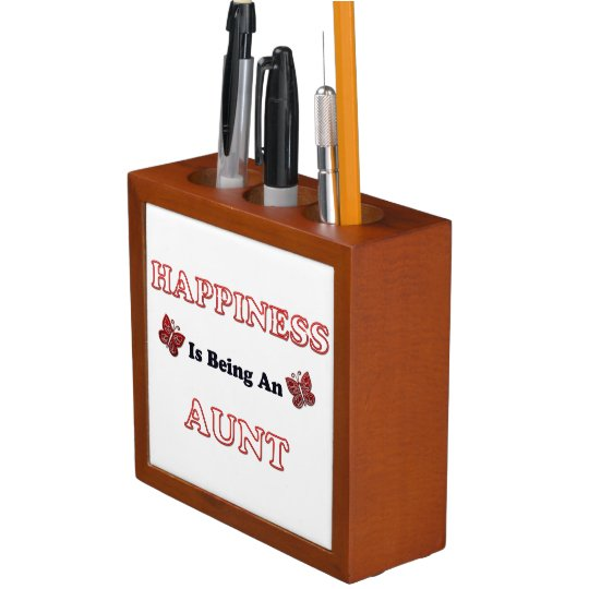 Happiness Is Being An Aunt Desk Organizer