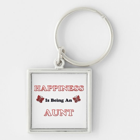Happiness Is Being An Aunt Keychain