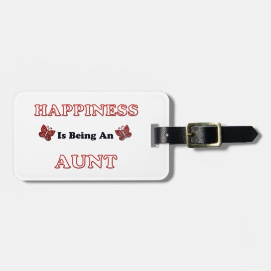 Happiness Is Being An Aunt Luggage Tag