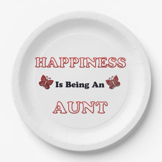 Happiness Is Being An Aunt Paper Plate
