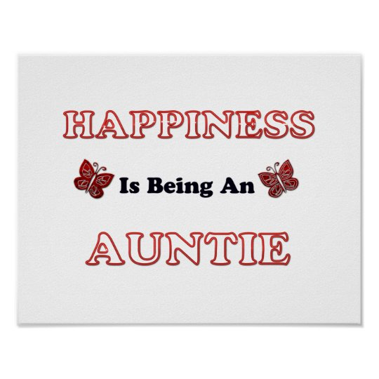 Happiness Is Being An Auntie Poster