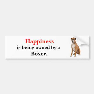Happiness is being owned by a Boxer Bumper Sticker