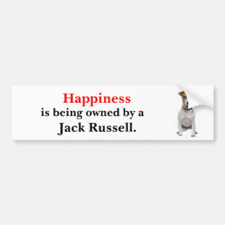 Happiness is being owned by a Jack Russell Bumper Sticker