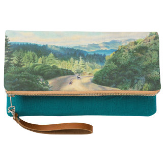 Happiness Is Best Shared Fold-Over Clutch