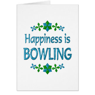 Happiness is Bowling Card