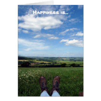 """Happiness is..."" Card"