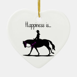 Happiness is... ceramic ornament