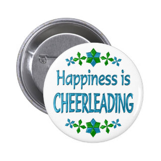 Happiness is Cheerleading Pinback Buttons