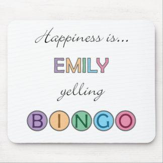 Happiness is Emily yelling BINGO Mouse Pad